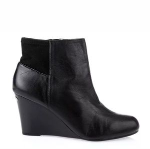 MICHAEL BY MICHAEL KORS BLACK BROMLEY WEDGE BOOTIE